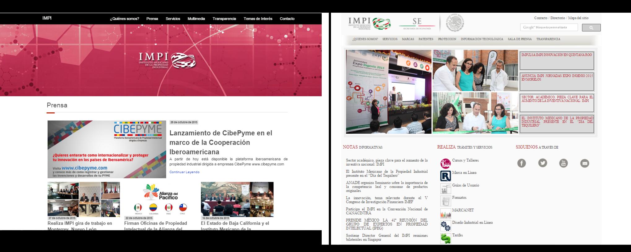 nueva página web del IMPI, más cambios en el IMPI